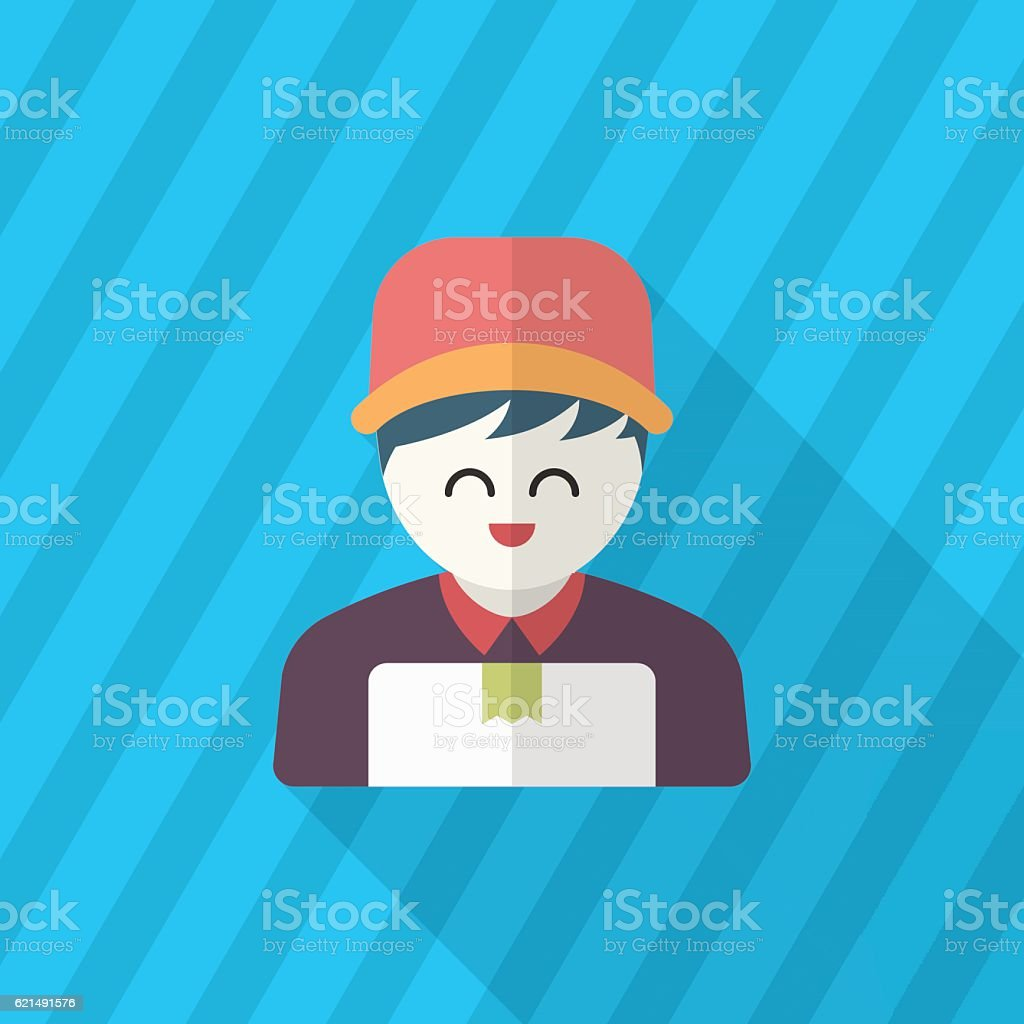 Delivery man phone icon delivery man phone icon – cliparts vectoriels et plus d'images de adulte libre de droits