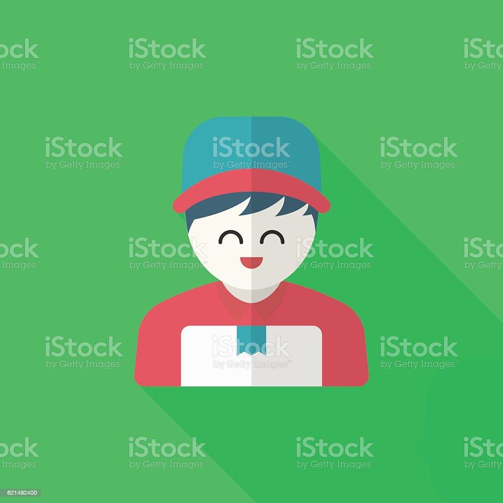 Delivery man phone icon Lizenzfreies delivery man phone icon stock vektor art und mehr bilder von auslieferungslager