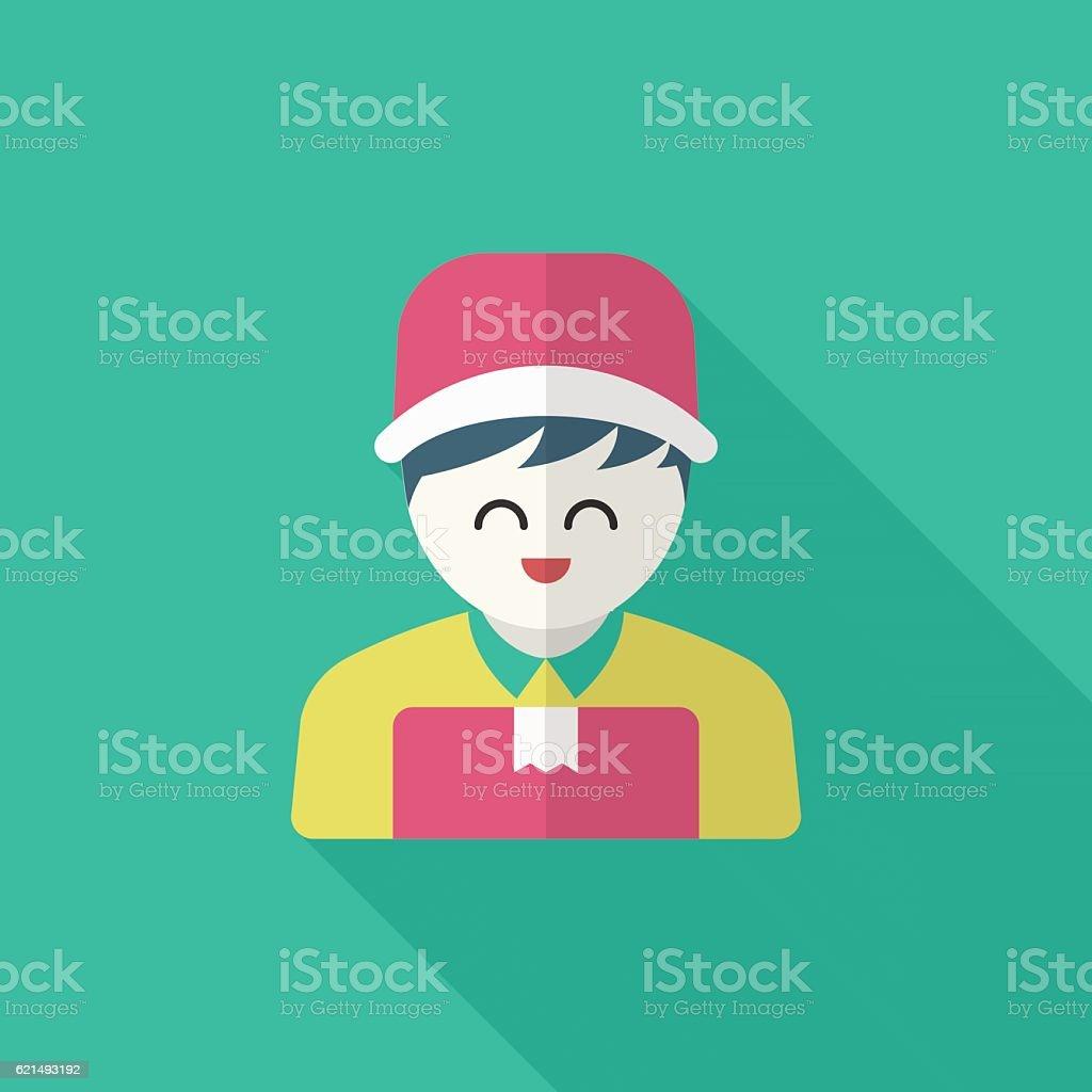 Delivery man phone icon delivery man phone icon – cliparts vectoriels et plus d'images de adulte libre de droits