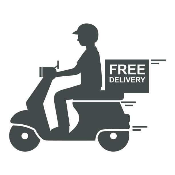 Best Delivery Bike Illustrations, Royalty-Free Vector ...