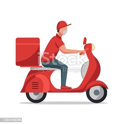 istock delivery man scooter 1254248239