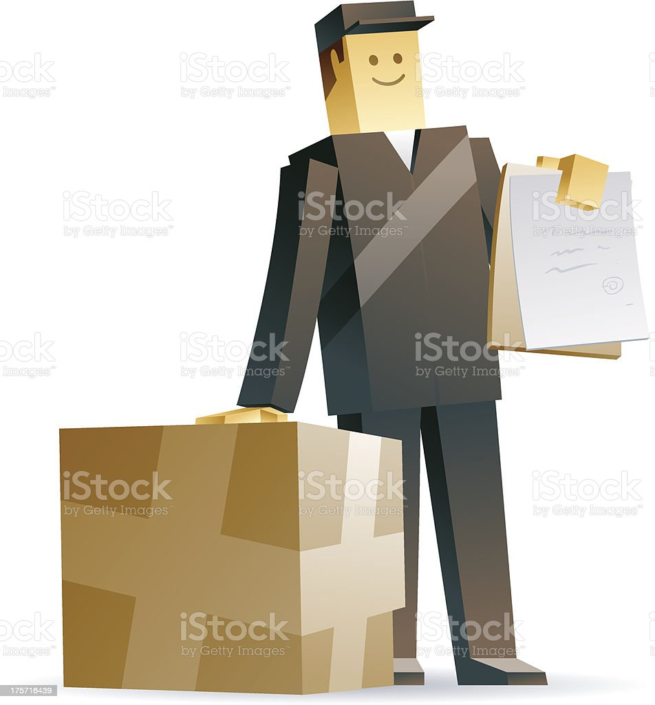 Delivery man royalty-free stock vector art