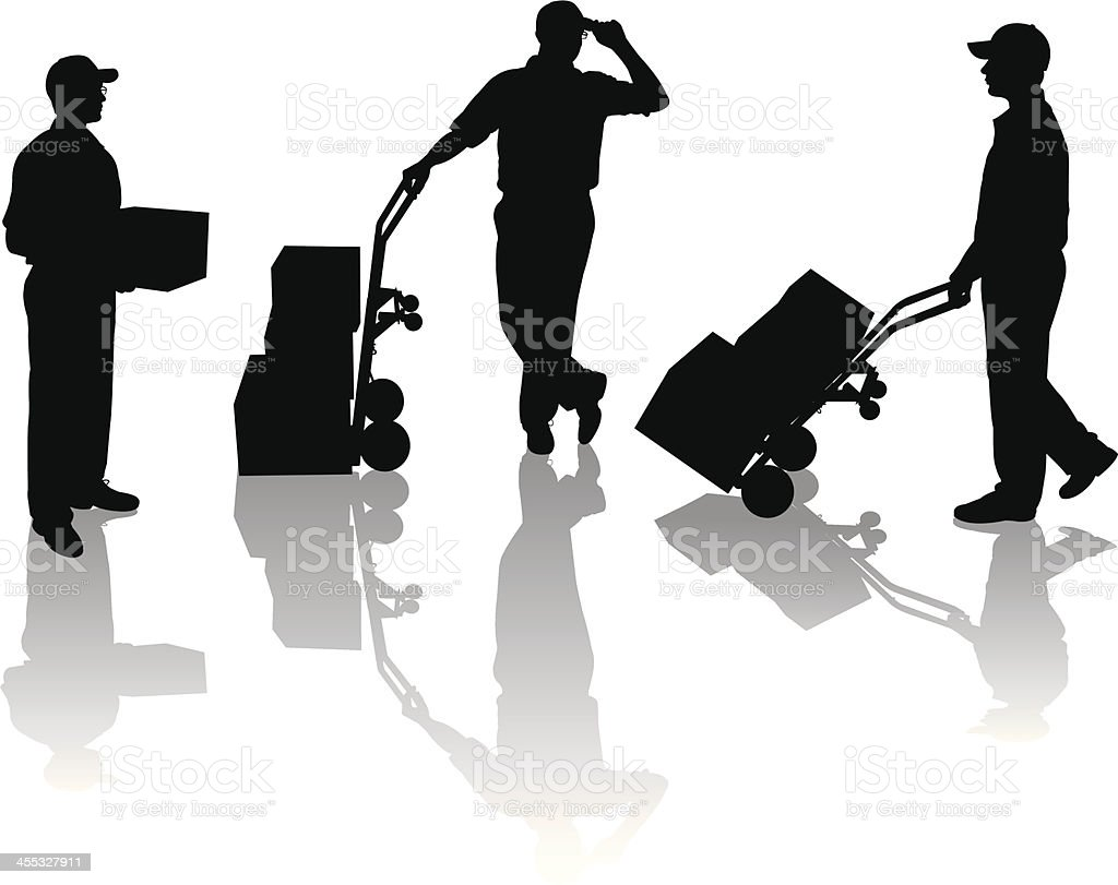Delivery Man with Package royalty-free stock vector art