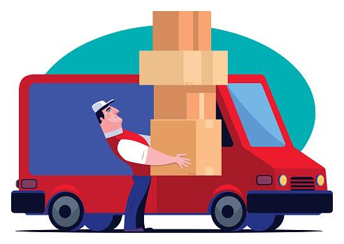 delivery man with van