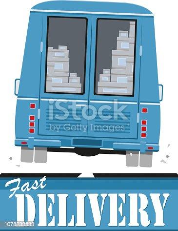 istock Delivery minibus 1078233538