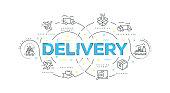 Delivery Modern Flat Design