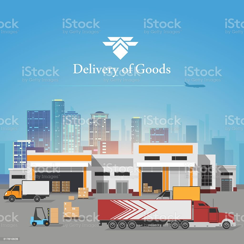Delivery of goods illustration vector art illustration