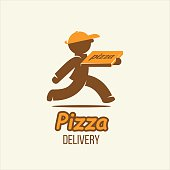 Delivery. Pizza delivery. Vector  sign.