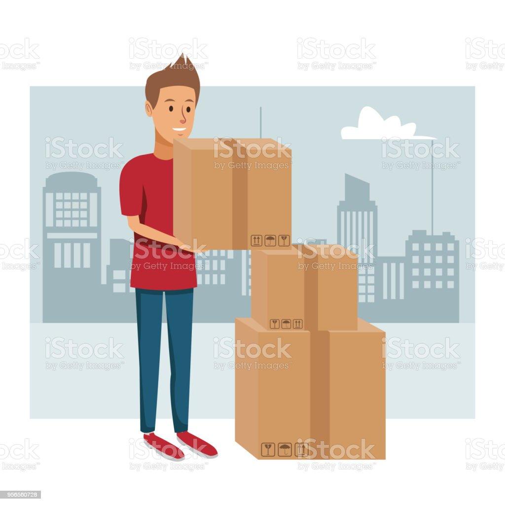 Service de livraison à la ville - Illustration vectorielle