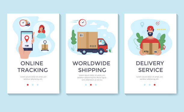 送貨服務橫幅 - delivery 幅插畫檔、美工圖案、卡通及圖標