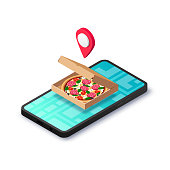 istock delivery service concept pizza pin isometric 1211500722