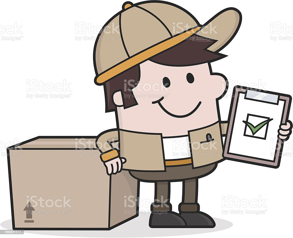 Delivery Service / Deliveryman with Package . everything is perfekt royalty-free stock vector art