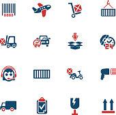 delivery service icon set