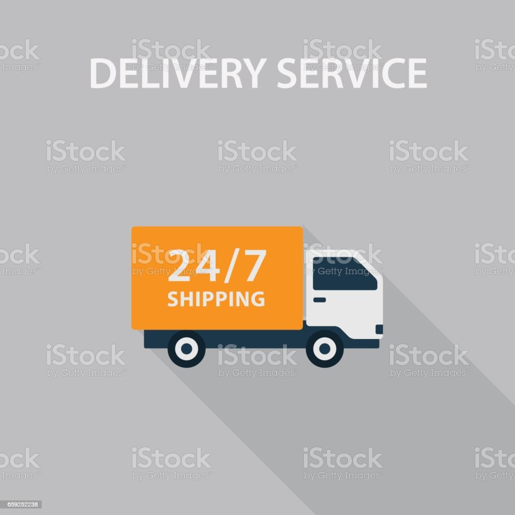 Delivery Service Illustration vector art illustration