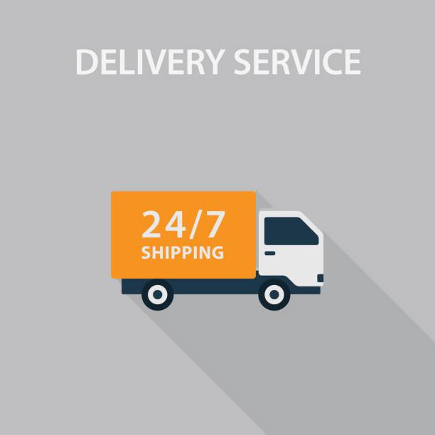 delivery service illustration - delivery van stock illustrations, clip art, cartoons, & icons
