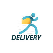 Delivery service logo template