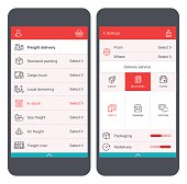 Delivery service User Interface on smartphone