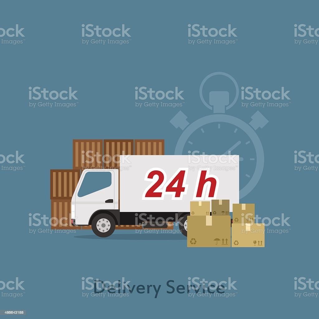 Delivery service vector art illustration