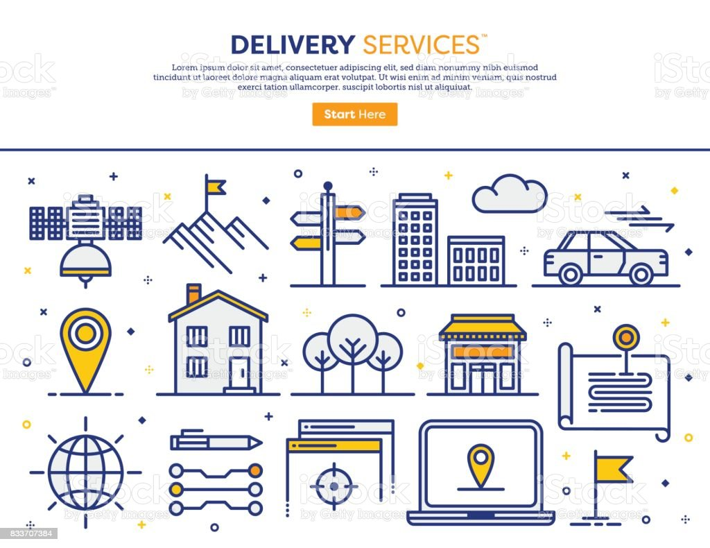 Delivery Services Concept vector art illustration