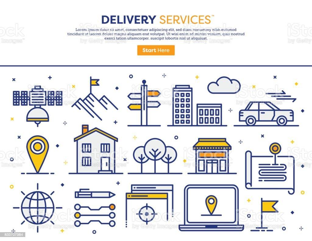 Concepto de servicios de entrega - ilustración de arte vectorial