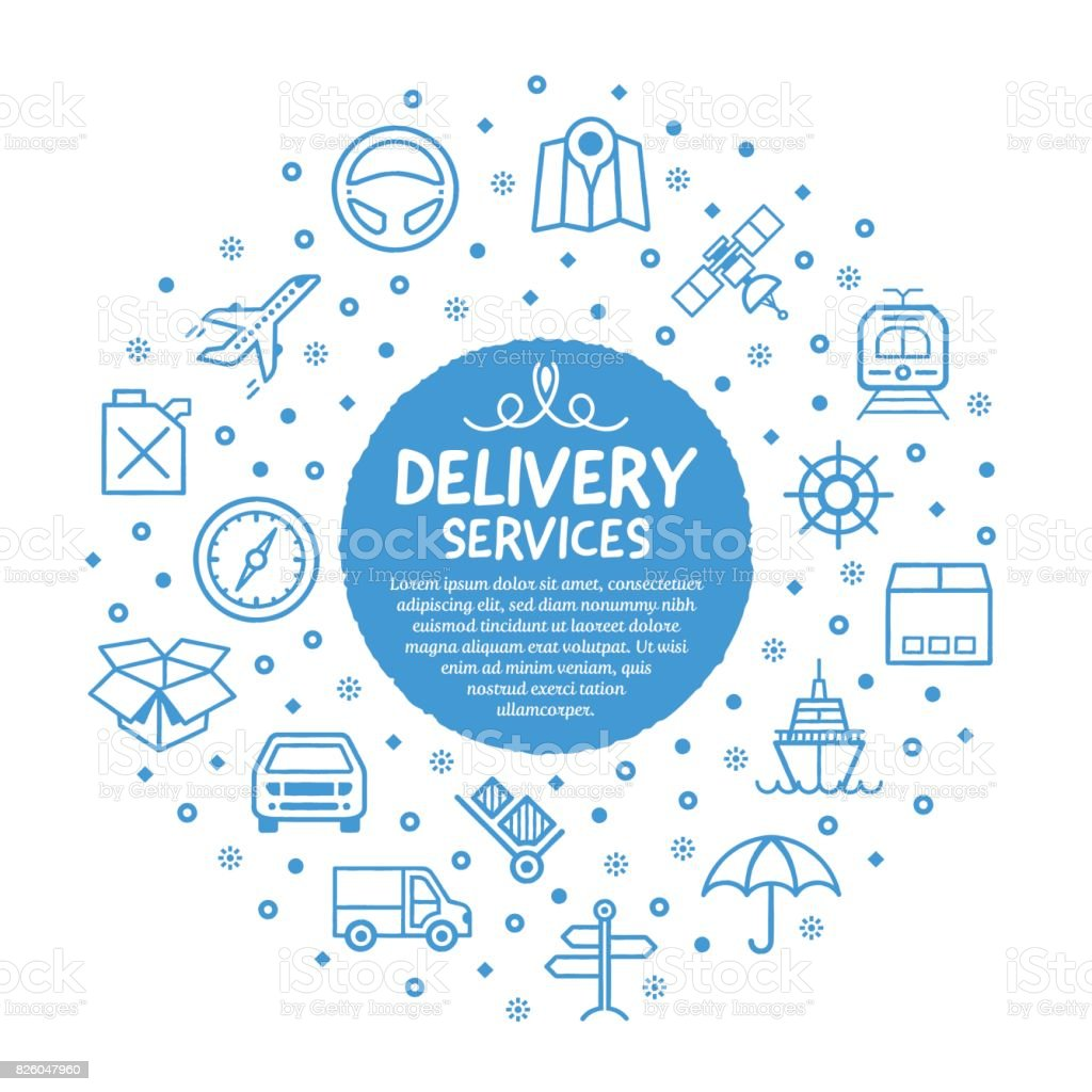 Delivery Services Poster vector art illustration