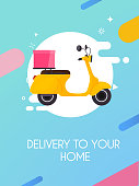 Delivery to your home. Flat design modern vector illustration concept.