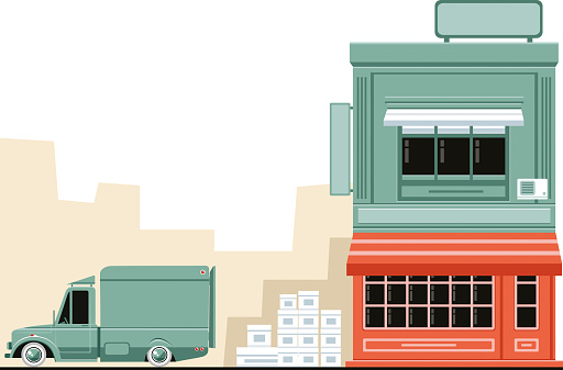 Delivery truck and store