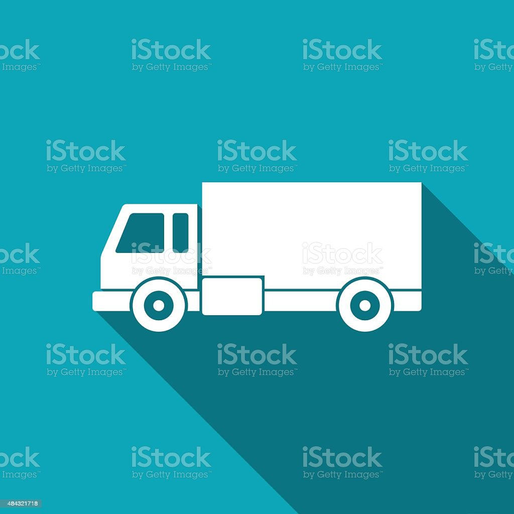 delivery truck icon vector art illustration