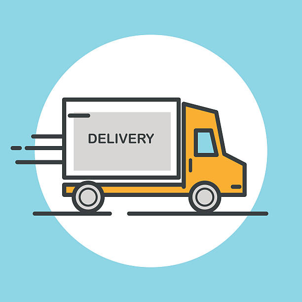 delivery truck icon vector -#main