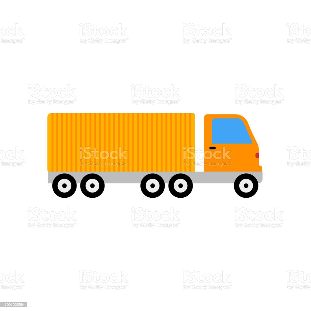 Delivery Truck Icon Vector Sign And Symbol Isolated On White
