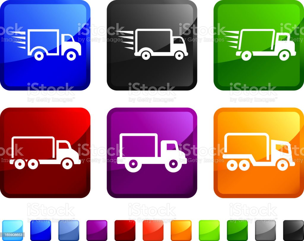 Delivery Truck royalty free vector icon set stickers royalty-free stock vector art
