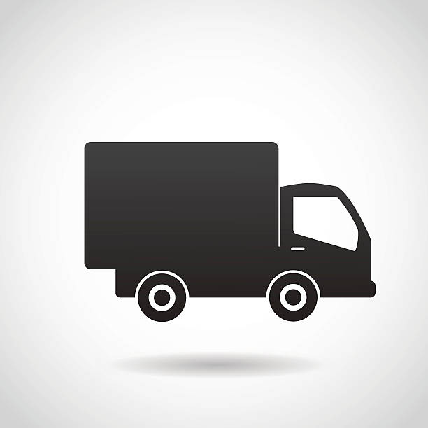 delivery truck vector icon. - delivery van stock illustrations, clip art, cartoons, & icons