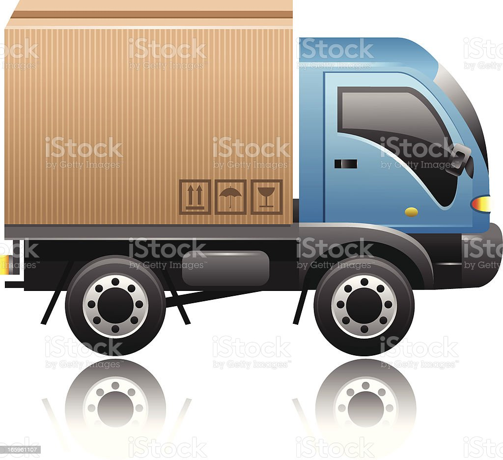 Delivery Truck royalty-free delivery truck stock vector art & more images of box - container
