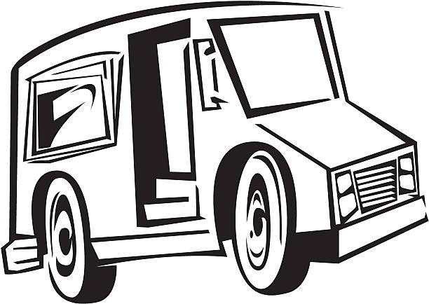 Royalty Free Mail Truck Clip Art Vector Images