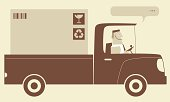 Vector illustration – Delivery Truck.