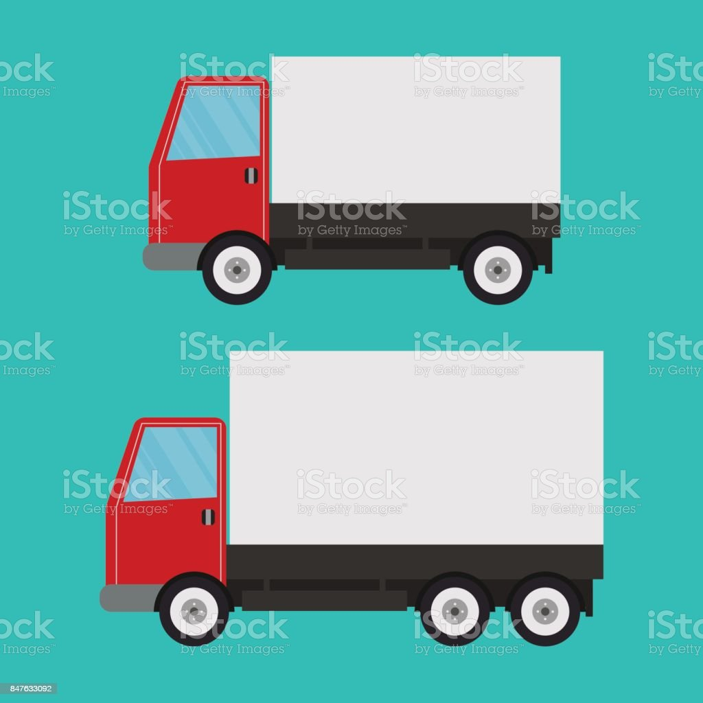 Delivery truck vector art illustration