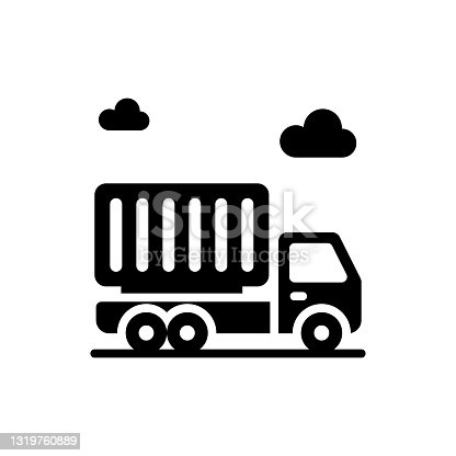 istock delivery truck vector Solid  icon style illustration. EPS 10 File 1319760889