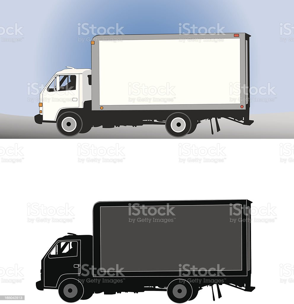Delivery Truck with driver (vector) royalty-free stock vector art