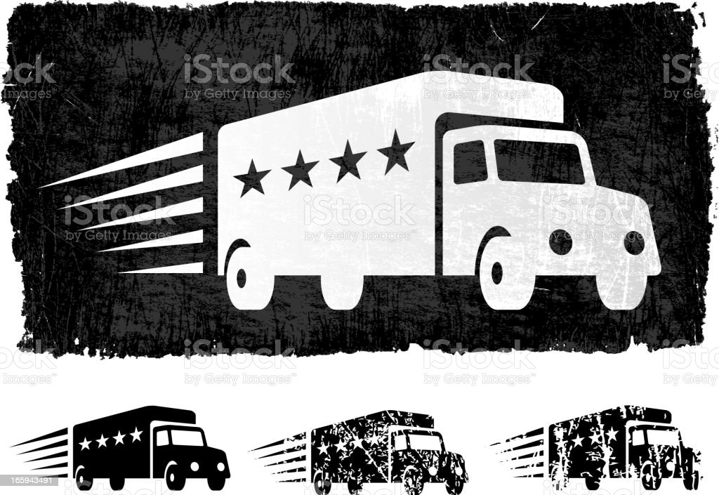 Delivery Truck with Star Ratings royalty free vector Background royalty-free stock vector art