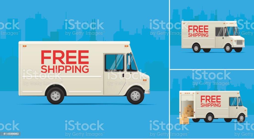 Delivery Trucks Illustration vector art illustration