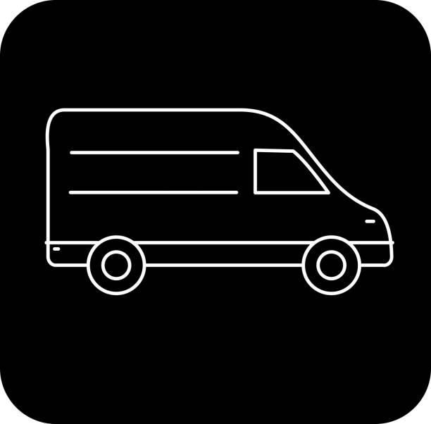 Delivery van icon vector art illustration
