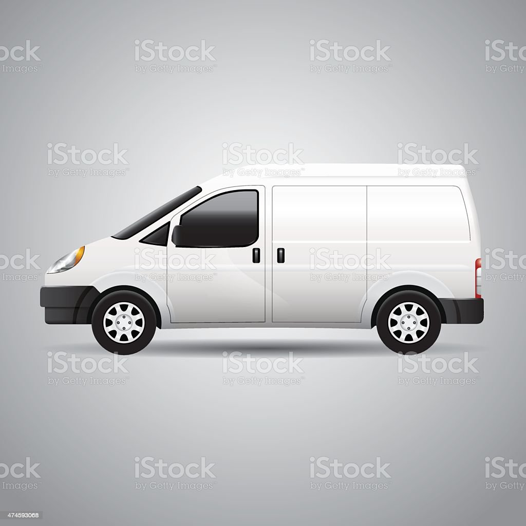 Delivery Van - Vector vector art illustration