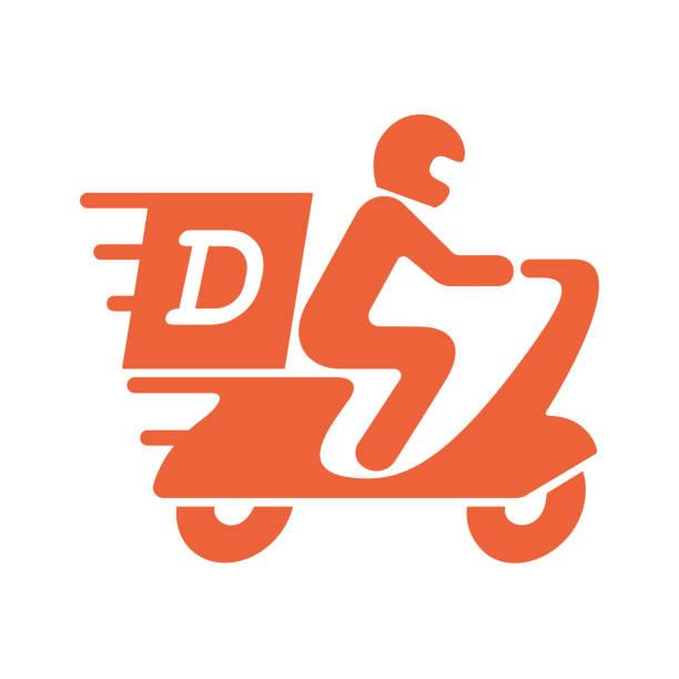 ilustrações, clipart, desenhos animados e ícones de entrega - moto