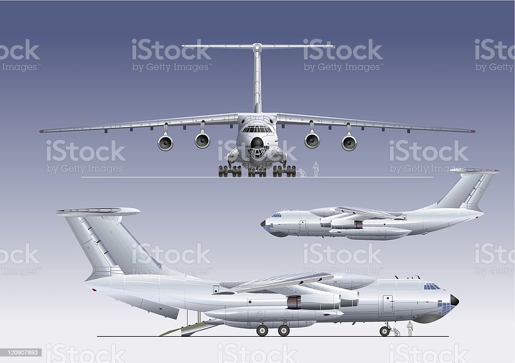 Delivery/cargo airplane vector art illustration