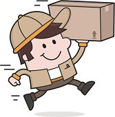 vector illustration of a quickly and reliably delivery service or move service
