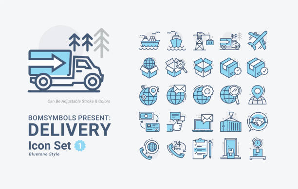 Delivery-Outline-BT01 vector art illustration
