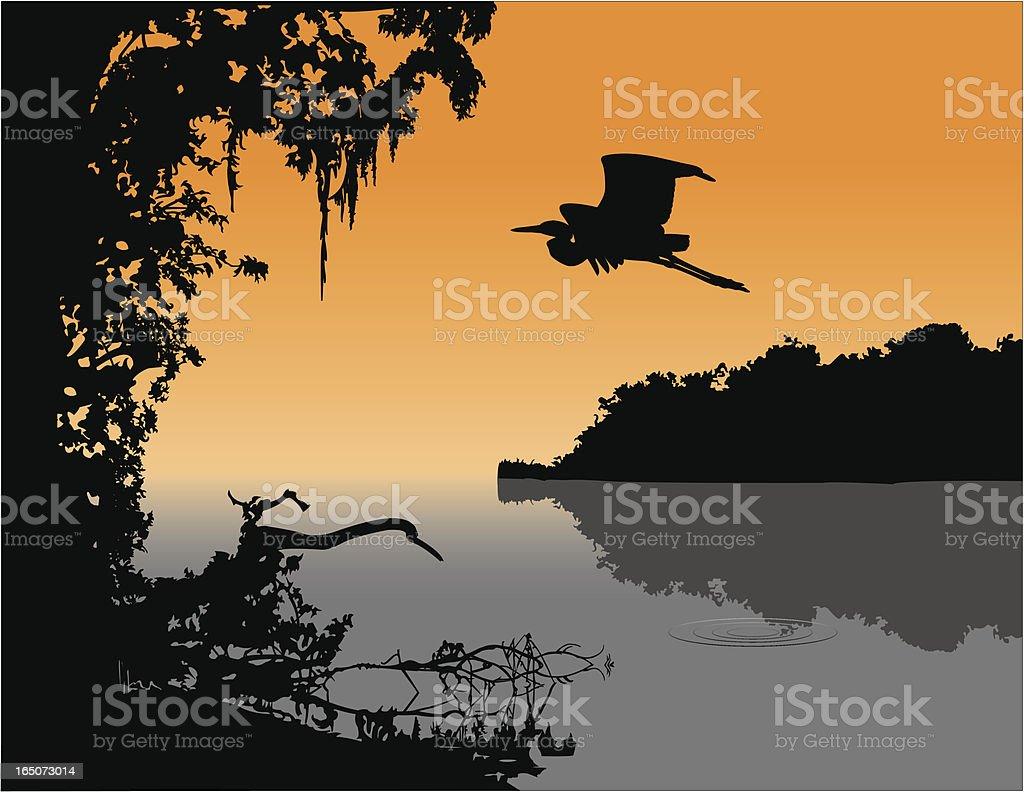 Delta Twilight vector art illustration