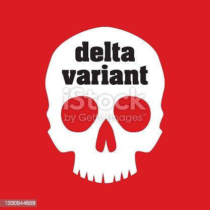 istock Delta Variant Skull 1330644659