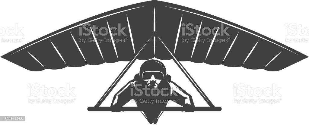 Deltaplan illustration isolated on white background. Vector design element vector art illustration