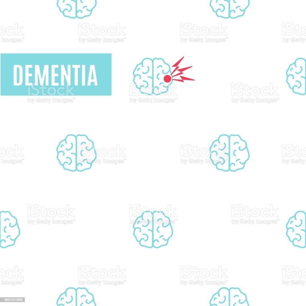 Cartel de patrón de demencia cerebral - arte vectorial de 70-79 años libre de derechos